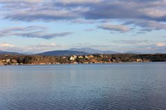 Озеро и горы Tellico стоковое фото