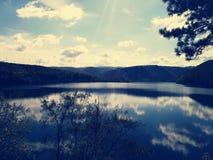 Озеро и свет Стоковое Изображение