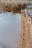 Озеро и трава Стоковые Изображения