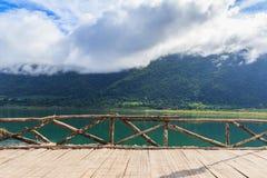 Озеро и туман Стоковые Фото