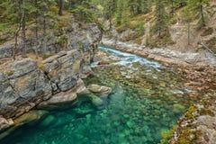 озеро Канады смычка alberta banff обнаружило местонахождение национальный парк Стоковые Изображения