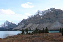 озеро Канады смычка alberta banff обнаружило местонахождение национальный парк стоковое фото rf