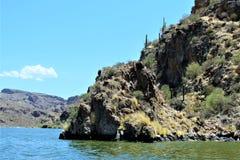 Озеро каньон, Maricopa County, Аризона, Соединенные Штаты стоковое фото rf