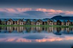 Озеро квартир Стоковое фото RF