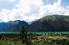 Озеро Кита Тибет Basum Стоковые Изображения RF