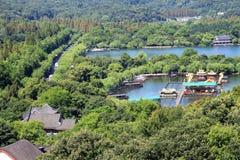Озеро Кита Ханчжоу западное Стоковое Изображение RF