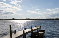 озеро коттеджа Стоковые Изображения
