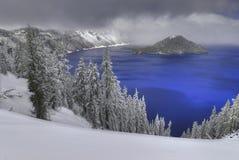 озеро кратера Стоковая Фотография RF
