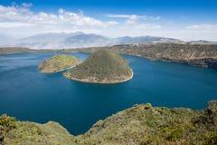 Озеро кратера Cuicocha, запас Cotacachi-Cayapas, эквадор Стоковое Изображение RF