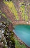 Озеро кратера Kerið вулканическое также вызвало Kerid или Kerith в южной Исландии Стоковая Фотография