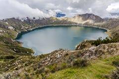 Озеро кратера Quilotoa, эквадор Стоковое Изображение
