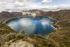 Озеро кратера Quilotoa, эквадор Стоковые Фотографии RF