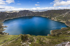 Озеро кратера Quilotoa, эквадор Стоковая Фотография RF