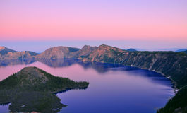 Озеро кратер, Орегон Стоковые Фотографии RF