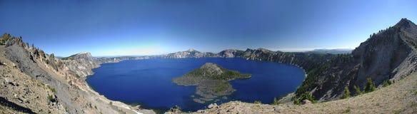 Озеро кратер панорамное Стоковая Фотография
