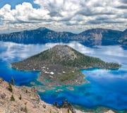 Озеро кратер стоковая фотография