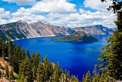 Озеро кратер Стоковое Изображение RF