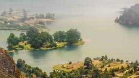 Озеро кратер Wonchi стоковое изображение rf