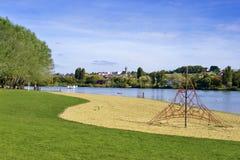 Озеро Ла-Ferté-Бернарда в Франции Стоковое Изображение