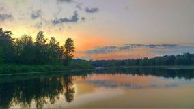 Озеро летнего лагеря Стоковые Фото