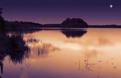 Озеро лунный свет Стоковые Изображения