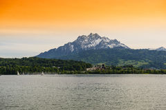 Озеро Люцерн стоковые фотографии rf