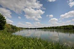 Озеро Макс-Eyth в Штутгарте/Германии Стоковое Фото