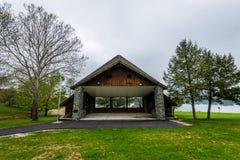 Озеро Марбург в парке штата Codorus в Ганновере, Пенсильвании Стоковая Фотография