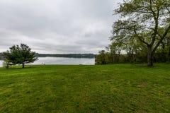 Озеро Марбург в парке штата Codorus в Ганновере, Пенсильвании Стоковое фото RF