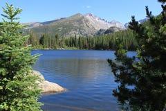 озеро медведя longs пик Стоковые Изображения RF