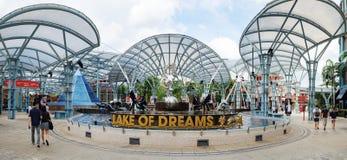 Озеро мечт в острове Sentosa, Сингапуре Стоковое Фото