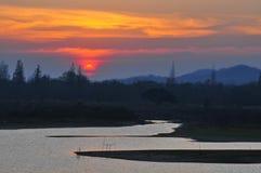 озеро мирное Стоковые Изображения