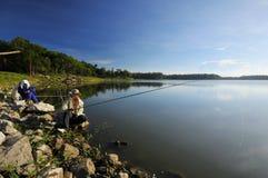 озеро мирное Стоковая Фотография