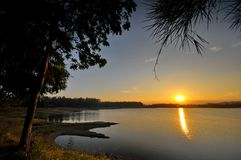 озеро мирное Стоковое фото RF