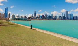 Озеро Мичиган в городе Чикаго, illinios, США Стоковые Изображения RF