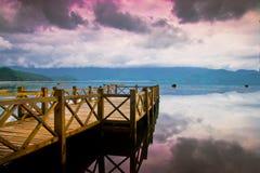 озеро моста деревянное Стоковые Изображения RF