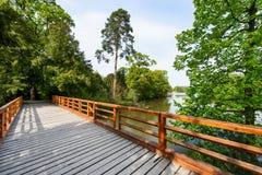 озеро моста над деревянным Стоковые Изображения