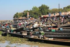 Озеро Мьянм Inle Стоковая Фотография