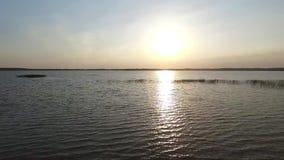 озеро над взглядом сток-видео
