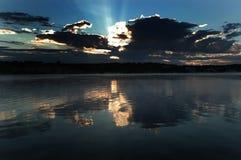 озеро над восходом солнца Стоковая Фотография RF