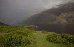 озеро над радугой Стоковая Фотография RF
