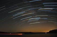 озеро над тропками звезды Стоковые Изображения RF