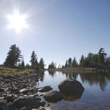 озеро наконечника Стоковая Фотография