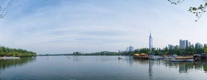 Озеро Нанкин Xuanwu Стоковая Фотография
