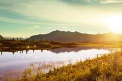 Озеро на Аляске стоковое изображение rf