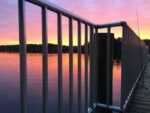Озеро на восходе солнца Стоковые Изображения