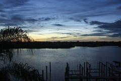 Озеро на зоре стоковое фото