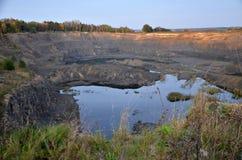 Озеро на месте бывших раскопок Стоковая Фотография
