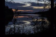 Озеро на ноче Стоковое Фото