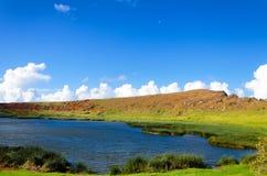 Озеро на острове пасхи Стоковое Изображение RF